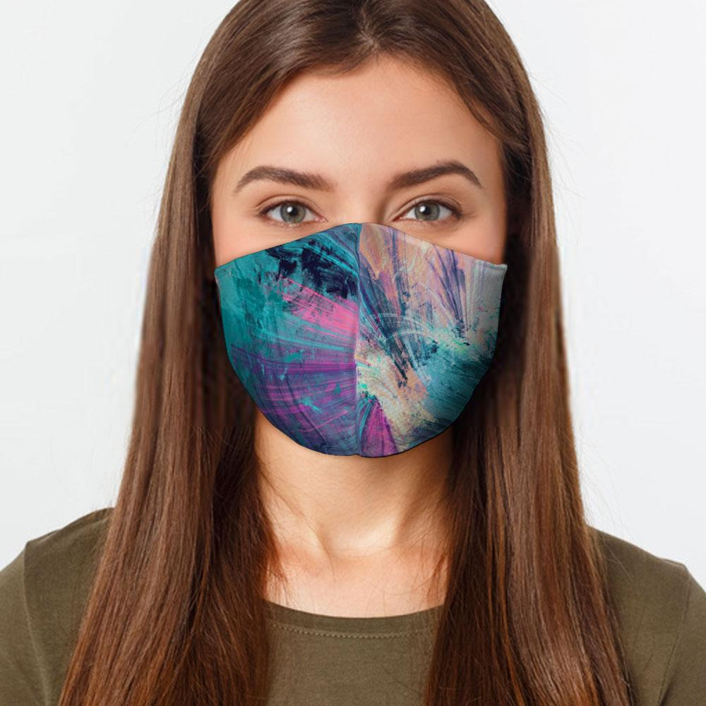 Abstract Colors Face Cover