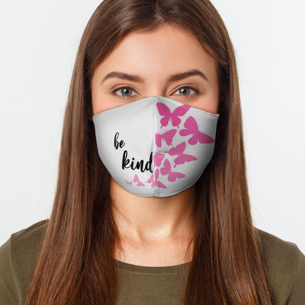 Be Kind Butterflies Face Cover