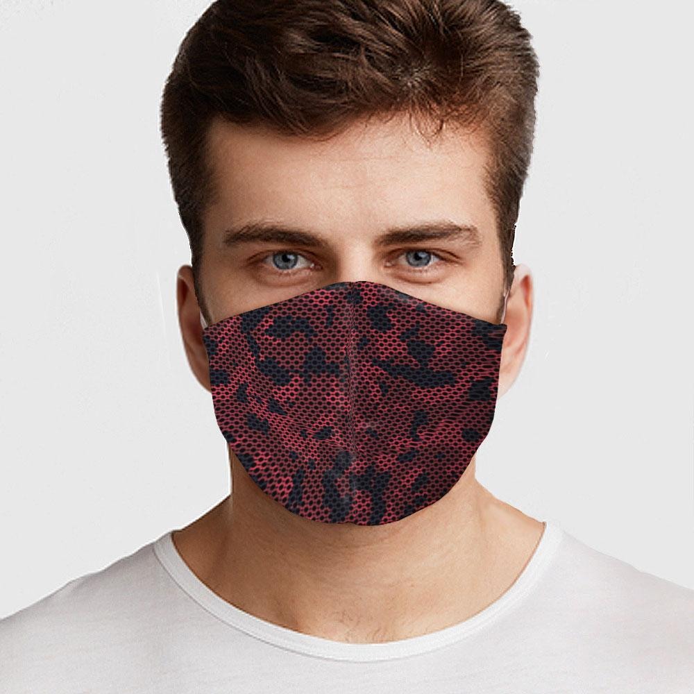 Red Camo Face Cover
