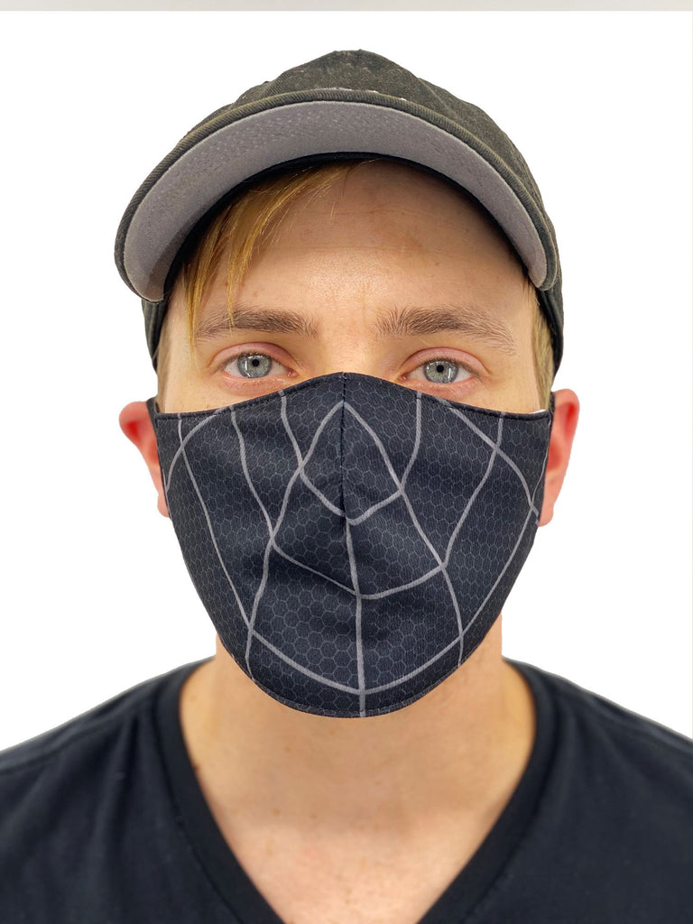 Black Spider Web Face Cover