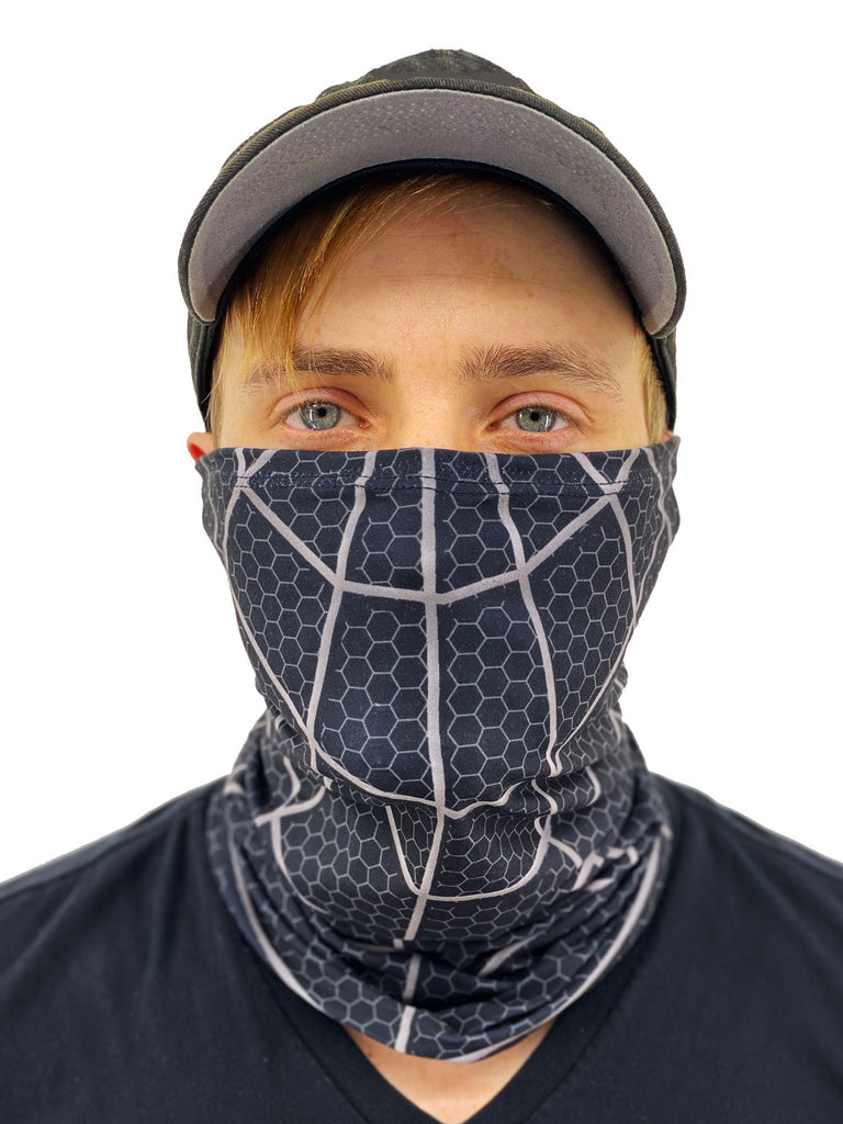 Black Spider Web Neck Gaiter