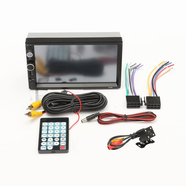 7 Inch Car Radio with Bluetooth, Touch Screen, AUX and Rear Camera