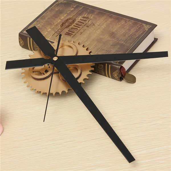 Vintage DIY Clock Mechanism Clock Movement Retro Gear Large Wall Clock Home Decor