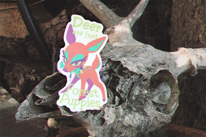 Forest Puppy Sticker