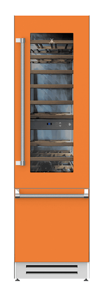 "Load image into Gallery viewer, Hestan KRWR24OR 24"" Wine Refrigerator - Right Hinge - Orange / Citra"