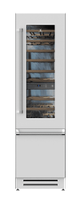 "Load image into Gallery viewer, Hestan KRWL24WH 24"" Wine Refrigerator - Left Hinge - White / Froth"