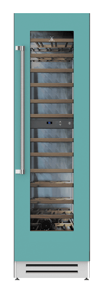 "Load image into Gallery viewer, Hestan KWCR24TQ 24"" Wine Cellar - Right Hinge - Turquoise / Bora Bora"