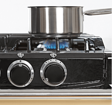 Load image into Gallery viewer, Aga ATC2DFPWT Aga City 24In Dual Fuel Cas Iron Range - Pewter