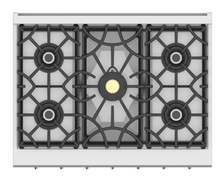 "Load image into Gallery viewer, Hestan KRT365NGRD 36"" 5-Burner Rangetop - Natural Gas - Red / Matador"