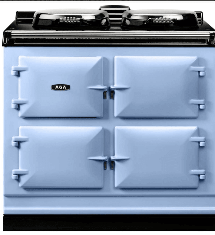 Load image into Gallery viewer, Aga ADC3EDEB Aga 39In Dual Control 3 Oven Cast Iron Electric Range - Duck Egg Blue