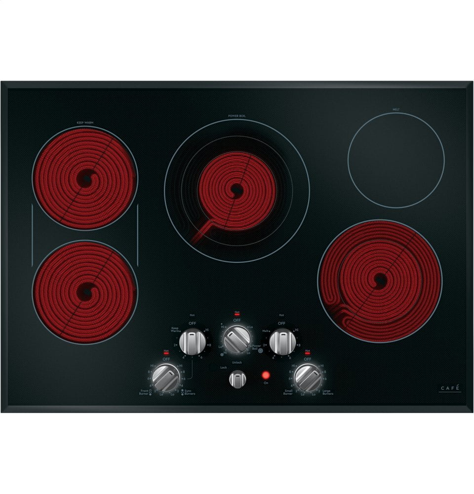 "Load image into Gallery viewer, Cafe CEP70302MS1 Café 30"" Knob-Control Electric Cooktop"