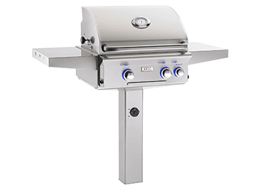 Load image into Gallery viewer, American Outdoor Grill 24NGL Cooking Surface 432 Sq. Inches Post Model Grill
