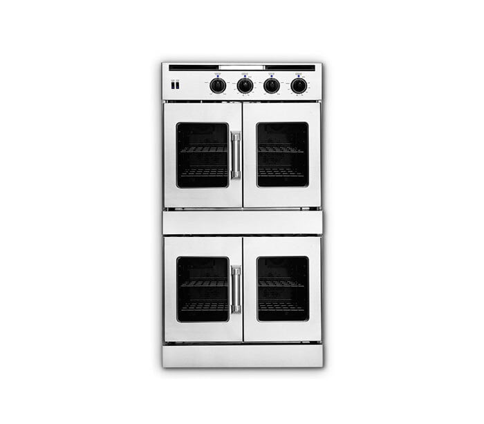 "Load image into Gallery viewer, American Range AROFFHGE230L 30"" Legacy Hybrid French Door Double Deck Wall Oven - Gas On Top / Electric On Bottom- Liquid Propane"