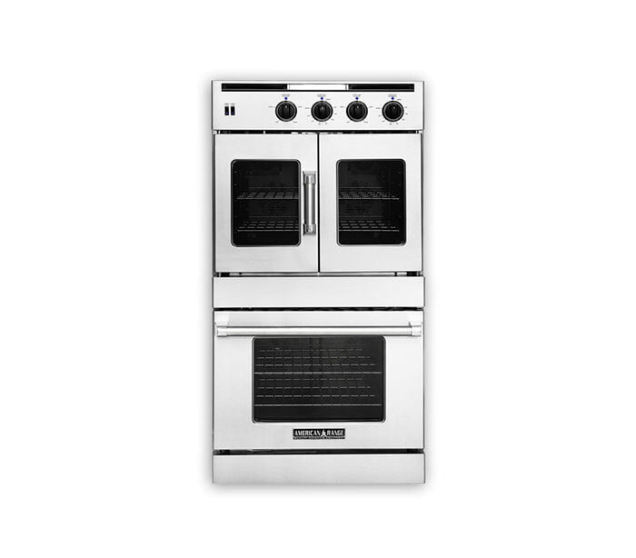 "Load image into Gallery viewer, American Range AROSSHGE230N 30"" Legacy Hybrid Double Chef Door Oven- Natural Gas"