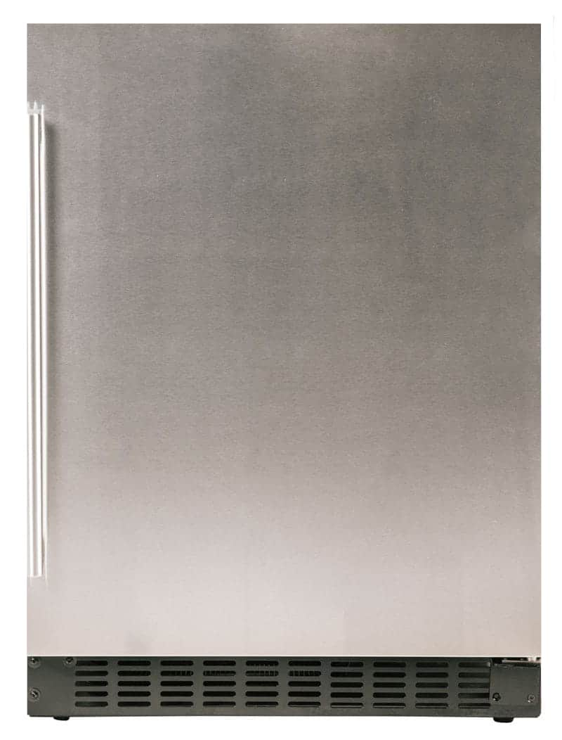 "Load image into Gallery viewer, Azure Home Products A124RS Refrigerator 1.0 - 24"" Solid Stainless Door"