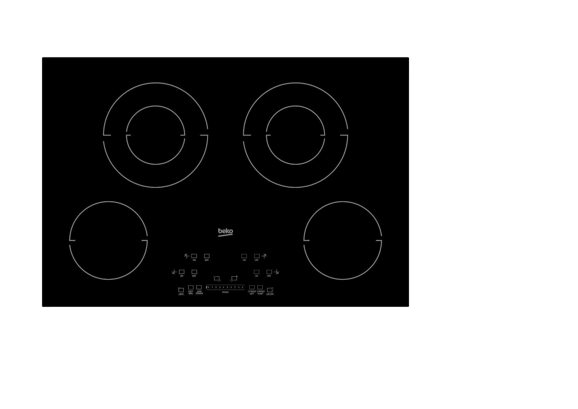 "Load image into Gallery viewer, Beko ECTM30102 30"" Built-In Electric Cooktop With 4 Burners And Touch Control"