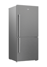 "Load image into Gallery viewer, Beko BFBF3018SSIM 30"" Freezer Bottom Stainless Steel Refrigerator With Auto Ice Maker"