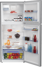 "Load image into Gallery viewer, Beko BFTF2716SSIM 28"" Freezer Top Stainless Steel Refrigerator With Auto Ice Maker"