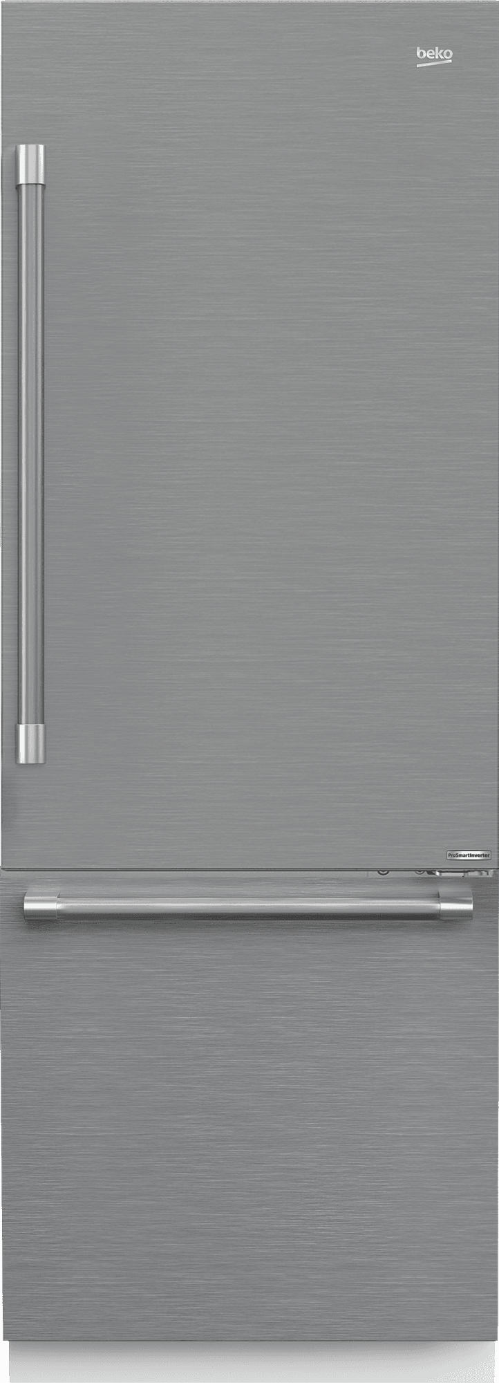 "Load image into Gallery viewer, Beko BBBF3019IMWESS 30"" Stainless Steel Freezer Bottom Built-In Refrigerator With Auto Ice Maker, Water Dispenser"