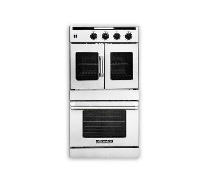 "Load image into Gallery viewer, American Range AROFSG230N 30"" Legacy French & Chef Door Double Deck Wall Oven- Natural Gas"