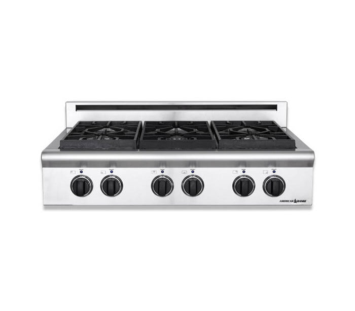 "Load image into Gallery viewer, American Range ARSCT366L 36"" Legend Series Rangetop-Liquid Propane"