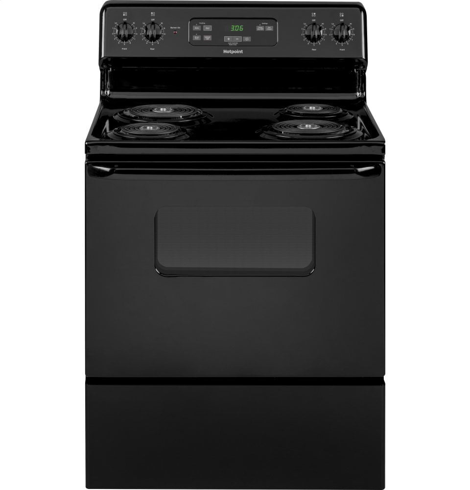 "Load image into Gallery viewer, Hotpoint RBS360DMBB Hotpoint® 30"" Free-Standing Standard Clean Electric Range"