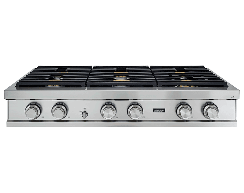 "Load image into Gallery viewer, Dacor DTT48M876PS 48"" Rangetop, Stainless Steel, Liquid Propane"