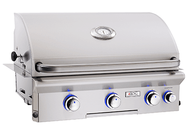 "Load image into Gallery viewer, American Outdoor Grill 30NBL00SP Cooking Surface 540 Sq. Inches (30"" X 18"") Built-In Grill W/O Rotisserie"