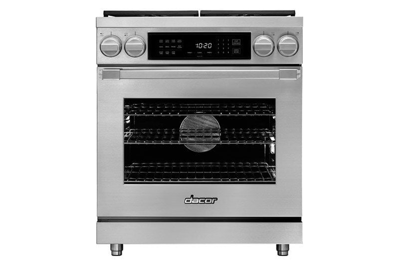 "Load image into Gallery viewer, Dacor HDPR30CLP 30"" Dual Fuel Pro Range, Dacormatch, Liquid Propane"