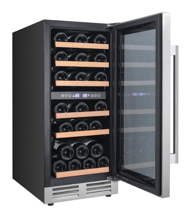 Load image into Gallery viewer, Avanti WCF282E3SD 28 Bottle Designer Series Dual Zone Wine Chiller W/Seamless Door