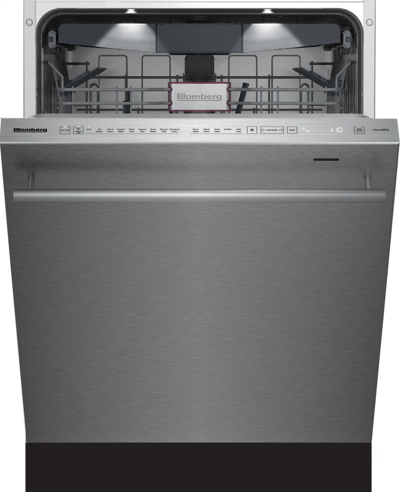 "Load image into Gallery viewer, Blomberg Appliances DWT81800SS 24"" Tall Tub Dishwasher 8 Cycles Top Control 3Rd Rack Stainless 45Dba"