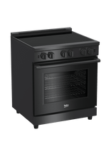 "Load image into Gallery viewer, Beko PRIR34450CF 30"" Carbon Fiber Pro-Style Induction Range"