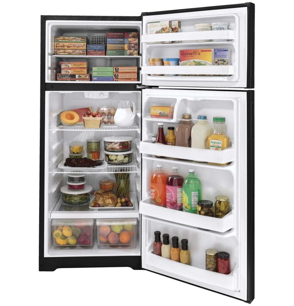 Load image into Gallery viewer, Hotpoint HPS18BTNRBB Hotpoint® 17.5 Cu. Ft. Recessed Handle Top-Freezer Refrigerator