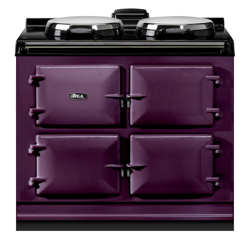 "Load image into Gallery viewer, Aga ADC3EAUB Aga Dual Control 39"" Electric Aubergine With Stainless Steel Trim"