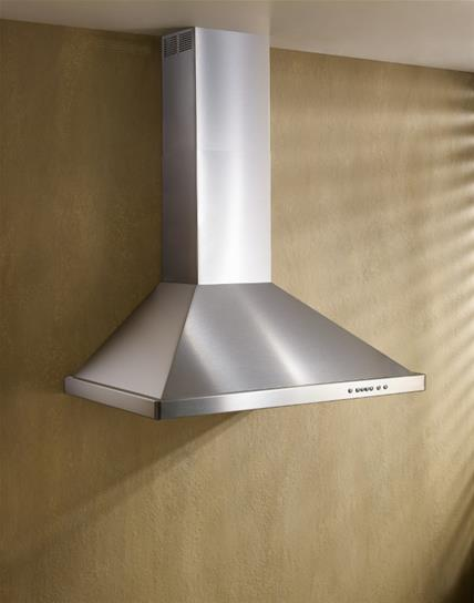 "Load image into Gallery viewer, Best Range Hoods WTT32I342SB 42"" Brushed Stainless Steel Wall Mount Chimney Hood With Internal 400 Max Cfm Blower"