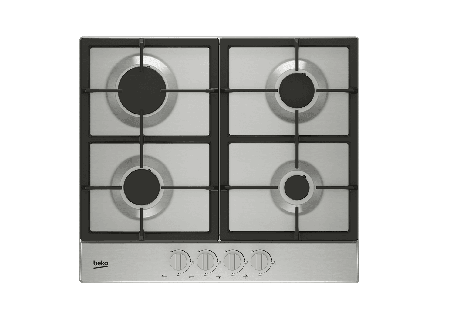 "Load image into Gallery viewer, Beko BCTG24400SS 24"" Built-In Gas Cooktop With 4 Burners"