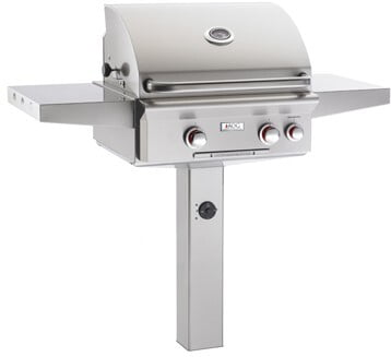 Load image into Gallery viewer, American Outdoor Grill 24NGT Cooking Surface 432 Sq. Inches Post Model Grill