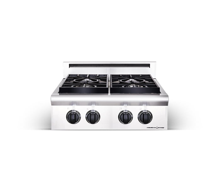 "Load image into Gallery viewer, American Range ARSCT244N 24"" Legend Series Rangetop - Natural Gas"