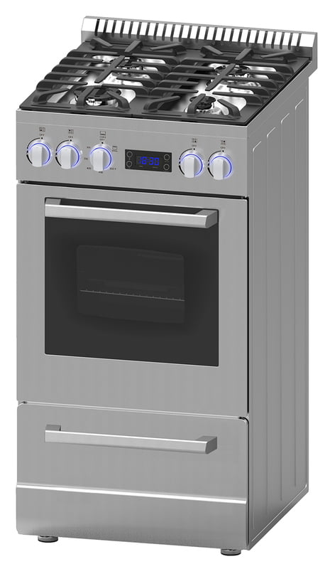 "Load image into Gallery viewer, Avanti DGR20P3S 20"" Deluxe Gas Range - Elite Series"