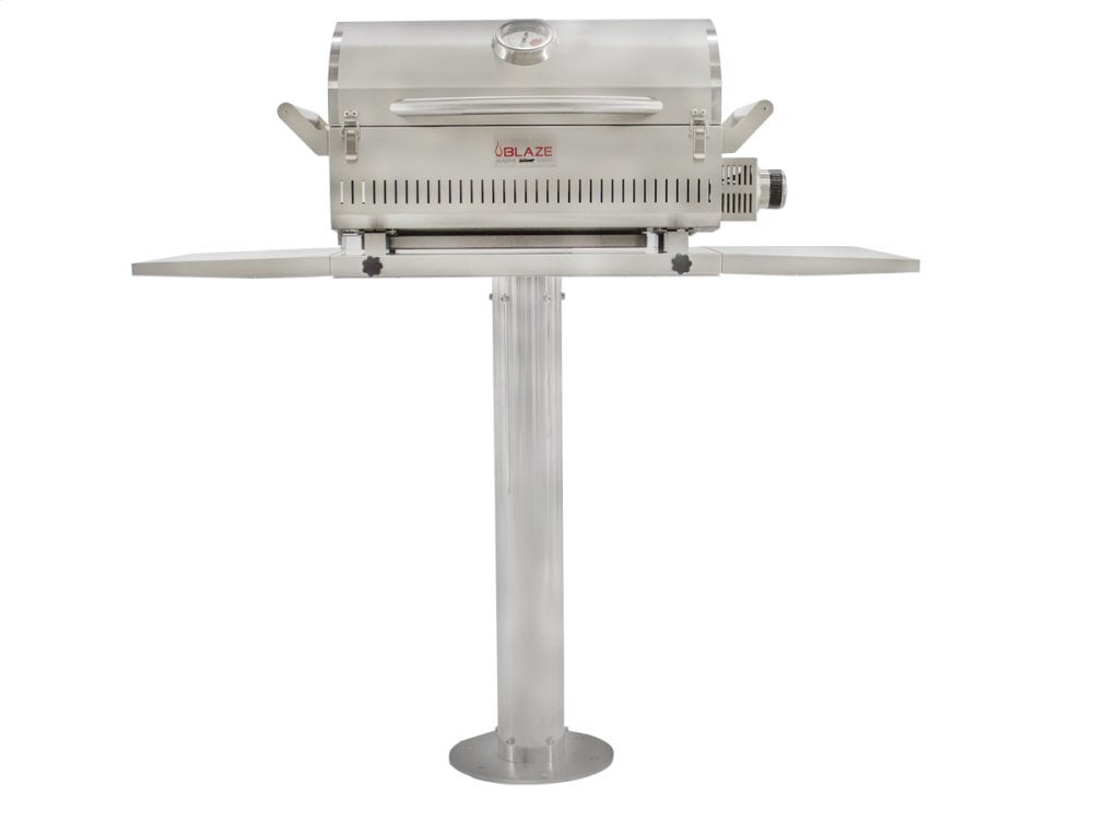"Load image into Gallery viewer, Blaze Grills BLZPRTPEDMG10 Blaze 10"" Pedestal For The Marine Grade Portable Grill"