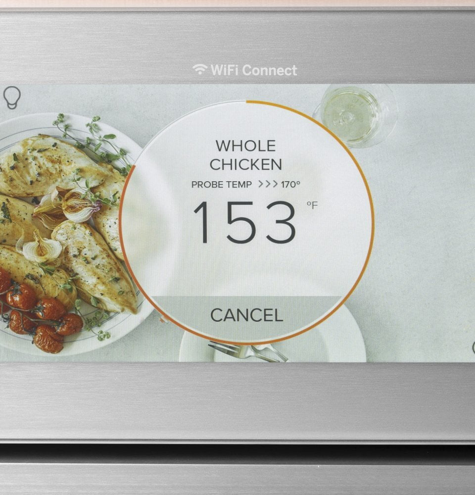 "Load image into Gallery viewer, Cafe CTD70DM2NS5 Café 30"" Smart Double Wall Oven With Convection In Platinum Glass"