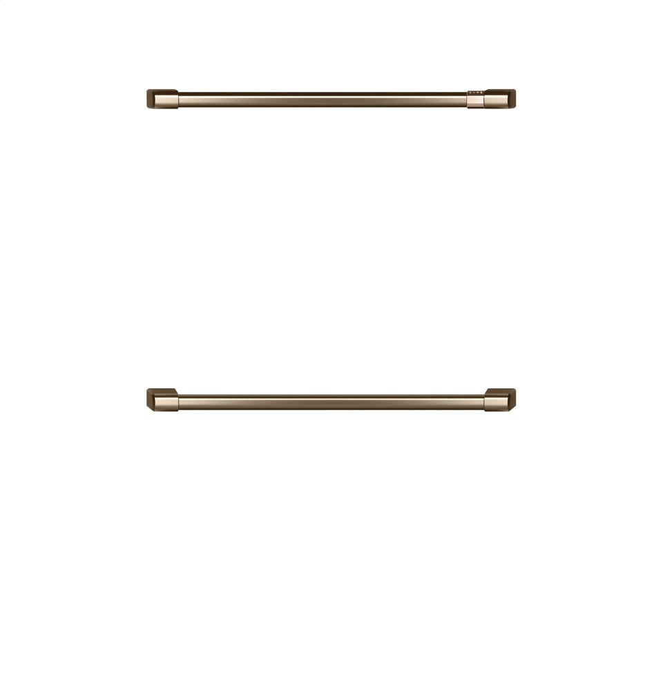 "Load image into Gallery viewer, Cafe CXWD0H0PMBZ Café 2 - 30"" Double Wall Oven Handles - Brushed Bronze"