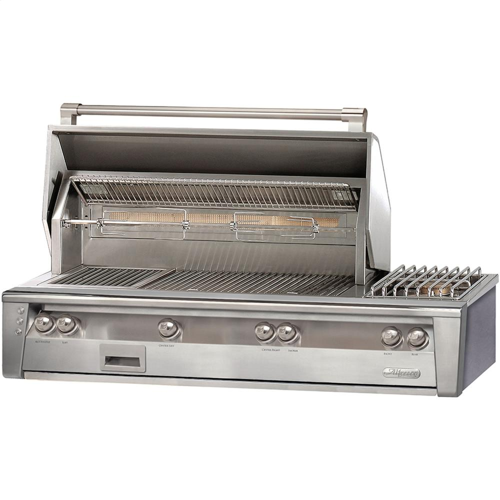 "Load image into Gallery viewer, Alfresco ALXE56SZNG 56"" Sear Zone Grill With Side Burner Built-In"