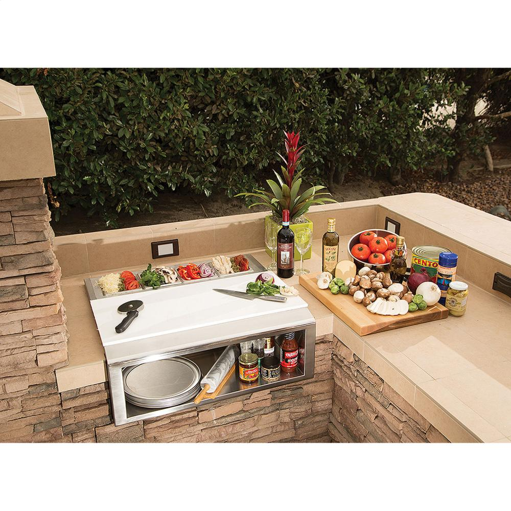"Load image into Gallery viewer, Alfresco APS30PPC 30"" Pizza Prep & Garnish Rail W/ Food Pans"