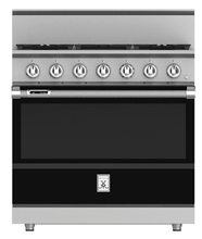 "Load image into Gallery viewer, Hestan KRD364GDNGBK 36"" 4-Burner Dual Fuel Range With 12"" Griddle - Natural Gas - Black / Stealth"