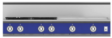 "Load image into Gallery viewer, Hestan KRT484GDLPBU 48"" 4-Burner Rangetop With 24"" Griddle - Liquid Propane - Blue / Prince"
