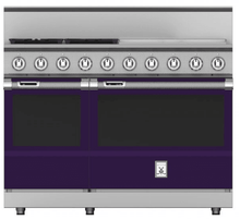 "Load image into Gallery viewer, Hestan KRD484GDNGPP 48"" 4-Burner Dual Fuel Range With 24"" Griddle - Natural Gas - Purple / Lush"