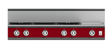 "Load image into Gallery viewer, Hestan KRT485GDLPRD 48"" 5-Burner Rangetop With 12"" Griddle - Liquid Propane - Red / Matador"