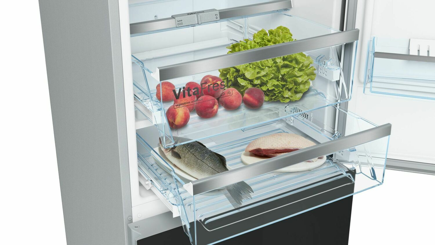 Load image into Gallery viewer, Bosch B10CB80NVB 800 Series, Free-Standing Fridge-Freezer-Black Glass Door