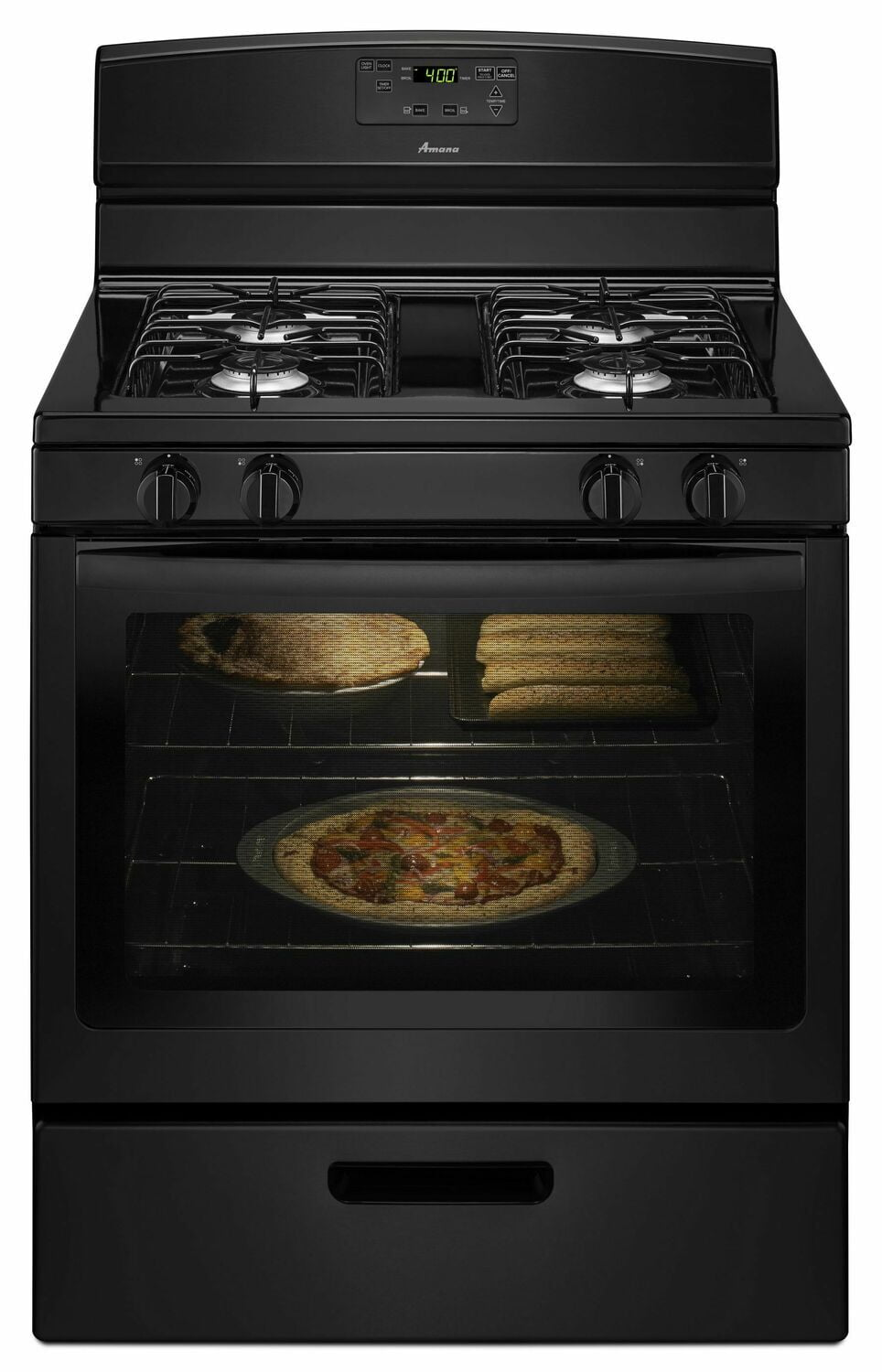 Load image into Gallery viewer, Amana AGR5330BAB 30-Inch Gas Range With Easy Touch Electronic Controls - Black